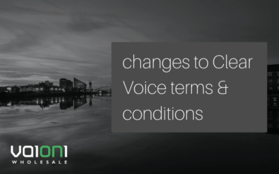 Changes to Clear Voice terms and conditions, effective 1st Feb 2020